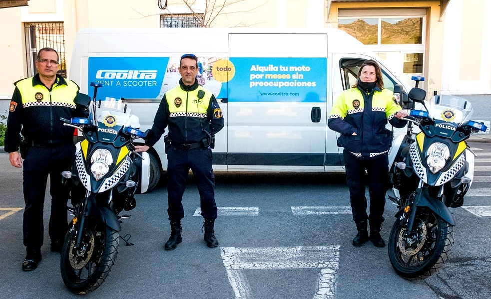 Cooltra incorporates 9 Suzuki for the Local Police of Castellón